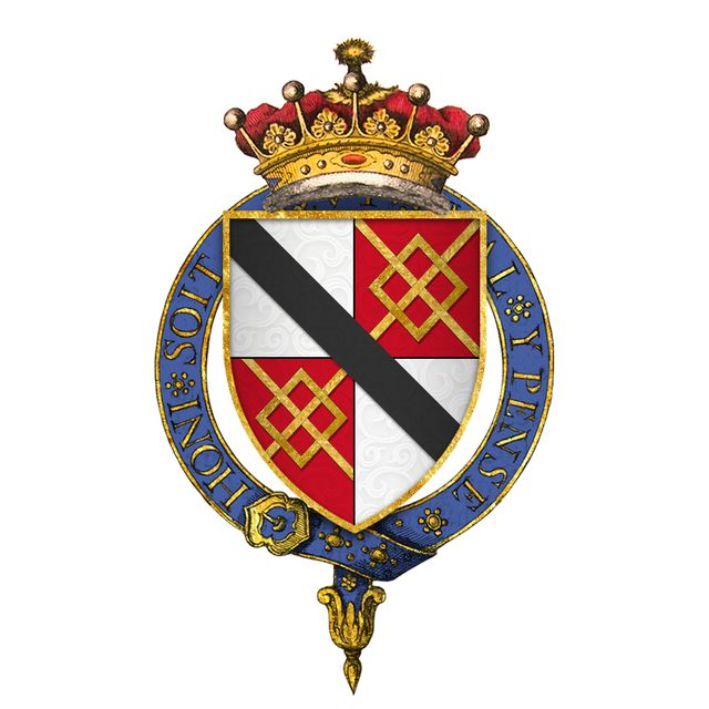 Coat of Arms of Sir Thomas le Despencer, 1st Earl of Gloucester, KG - Thomas le Despenser, 1st Earl of Gloucester KG (22 September 1373 – 13 January 1400) was the son of Edward le Despenser, 1st Baron le Despencer, whom he succeeded in 1375. Thomas le Despenser married Constance, daughter of Edmund of Langley, 1st Duke of York…