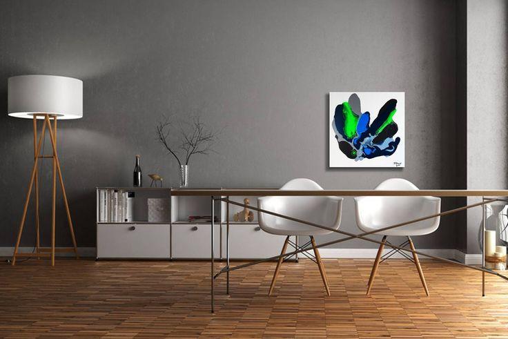 Acrylmalerei - Gemälde Fluent grey - Abstrakt Acryl Leinwand  - ein Designerstück von GalerieMiMo bei DaWanda