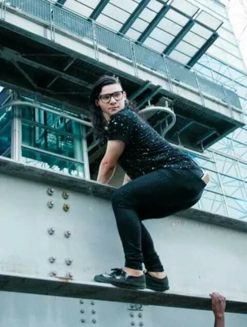 Skrillex and his climbing... lol