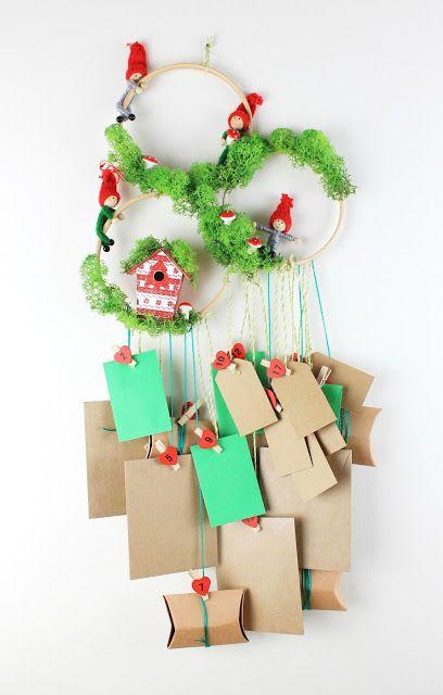 Diy Christmas Woodland Advent Calendar!  #Christmas #adventcalendar #doityourself #homedecor #activitiesforkids