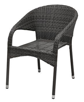 A stack of these would take up minimal space in the shed and give lots of comfy seating for parties and BBQs. The black weave would work well with out existing black furniture.