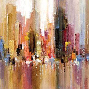 Portfolio-Canvas-Decor-Large-Printed-Canvas-Wall-Art-Painting-30-by-40-Inch-City-Spree-Framed-and-Stretched-Ready-to-Hang-0