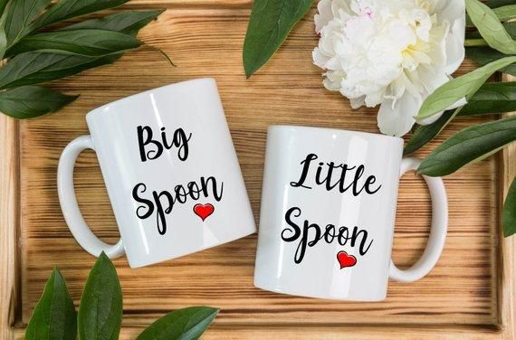 Spooning Mug Set 2 Mugs Big Spoon Little Spoon Mugs For Couples