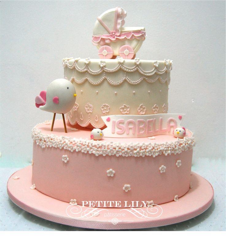 Sweet bird baby shower cake / bolo para chá de bebê