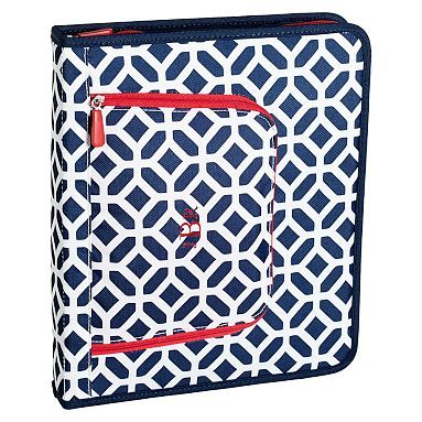 New binder for work. monogrammed in yellow. Rebecca How cute is THAT???