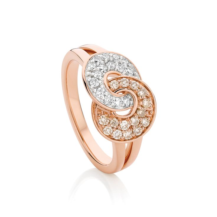Dreamtime 9ct White and Rose Gold Diamond Earings.  http://www.showcasejewellers.com.au/dreamtime-9ct-white-and-rose-gold-diamond-ring-sj2917/Y/Y