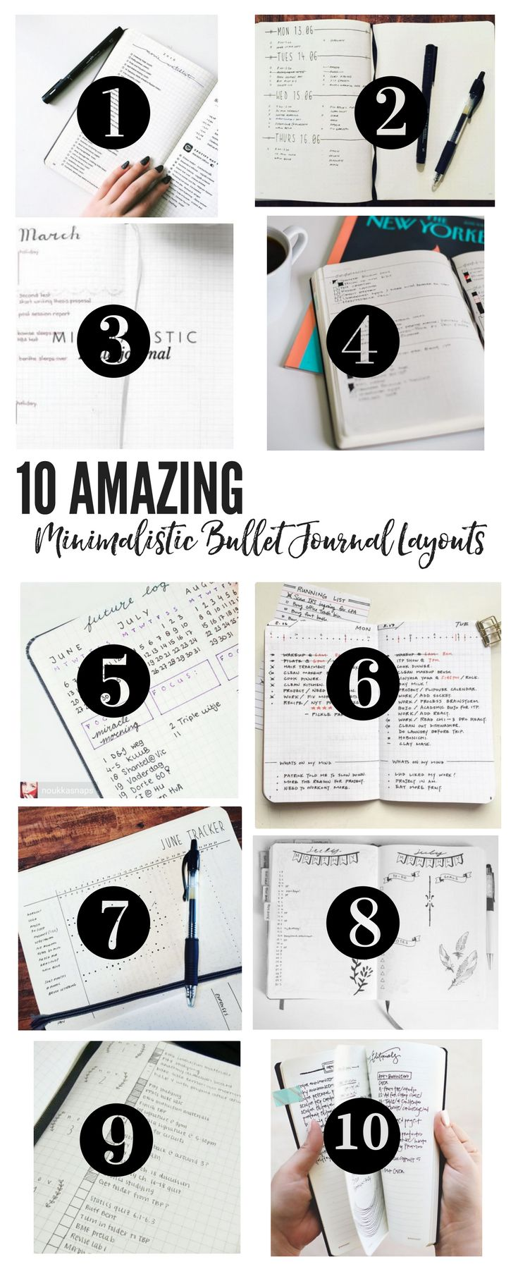10 Amazing Minimalistic Bullet Journal Layouts