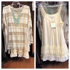 lace edged camisole sweater lengthener - Google Search