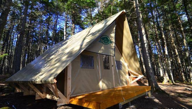 Kejimkujik National Park is offering a new camping experience for people who want a roof over their heads and a floor beneath their feet. The park will have 10 of the soft-sided cabins available this season.