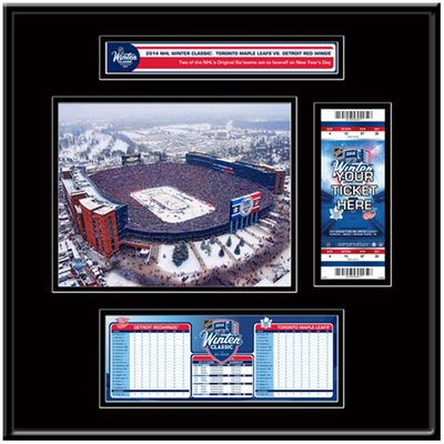 Toronto Maple Leafs vs. Detroit Red Wings 2014 NHL Winter Classic Ticket Frame Jr.