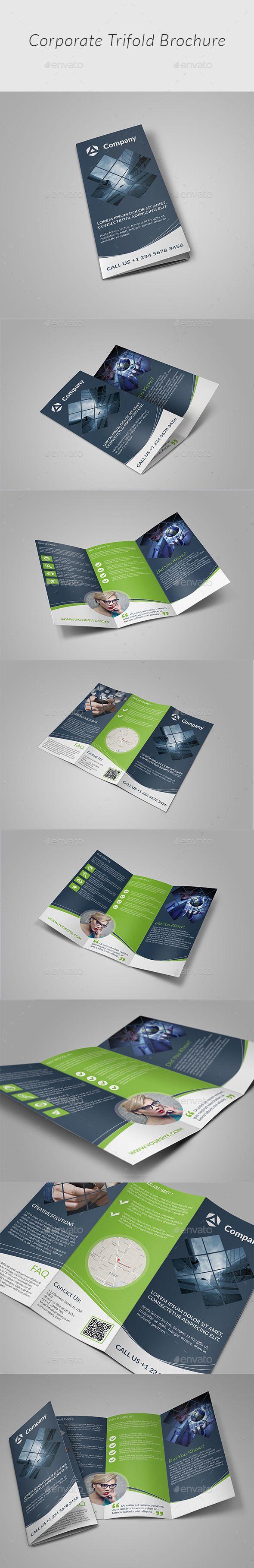 Tri-fold Brochure-Multipurpose Template #design Download: http://graphicriver.net/item/trifold-brochuremultipurpose/12451088?ref=ksioks