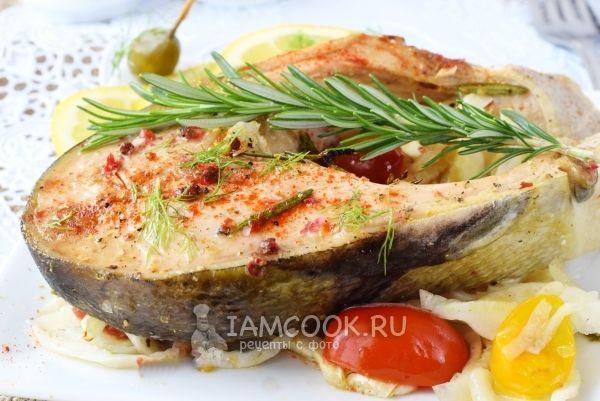 Рецепт стейка лосося, запеченного в фольге в духовке