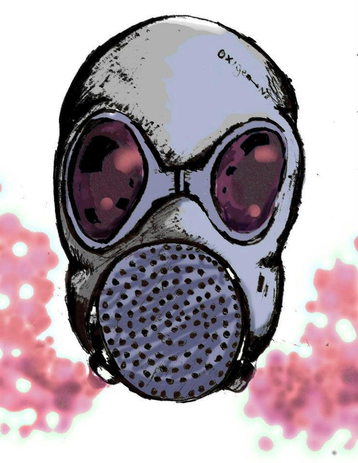 Gas mask   by @yeyocoreart #yeyocoreart #gasmask #smoke #illustration