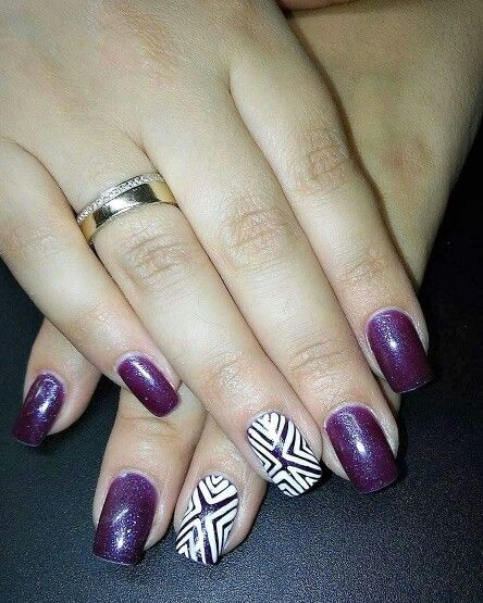 Purple shimmery & lines