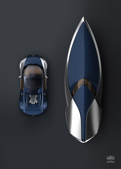 ♂ It's a man's world. Mr Ben's Bugatti Blue Boat & Car