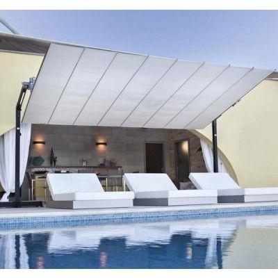 fim flexy aluminum 10u0027 x 12u0027 rectangular offset patio umbrella - Rectangular Patio Umbrella