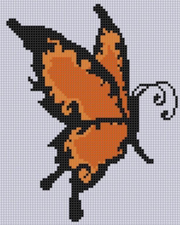 Butterfly 3 Cross Stitch Pattern
