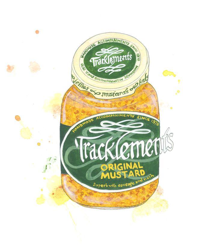 Emma Dibben illustration for Tracklements Original Mustard #Tracklements #Art #Original #Mustard