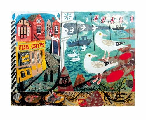 I can smell the chips from here..Seaside Fantasy by Mark Hearld
