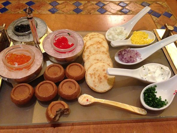 Caviar at The Buffet at Bellagio