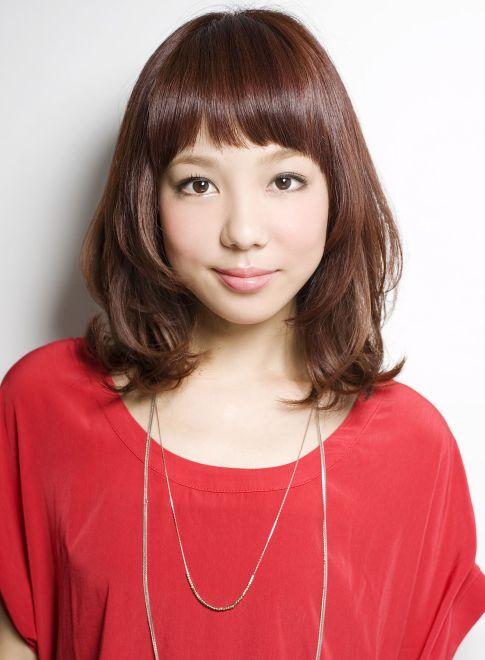 ショートバングが大人可愛いスタイル 【drive for garden】 http://beautynavi.woman.excite.co.jp/salon/21107?pint ≪ #mediumhair #mediumstyle #mediumhairstyle #hairstyle・ミディアム・ヘアスタイル・髪形・髪型≫