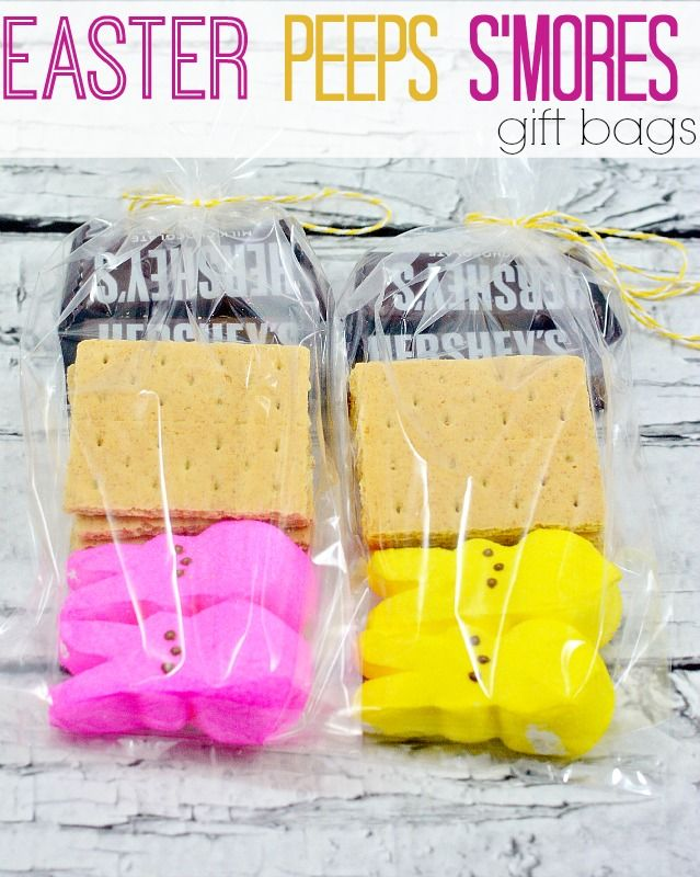 94 best holiday easter images on pinterest easter food easter easter peeps smores gift bag negle Images