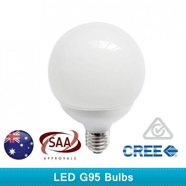 LED Globes G95 3000K Bulbs 5 or 10 pieces