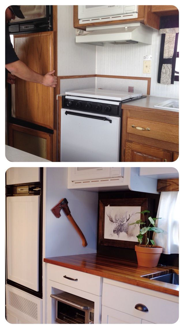 Travel Trailer Remodel Before And After We Completely