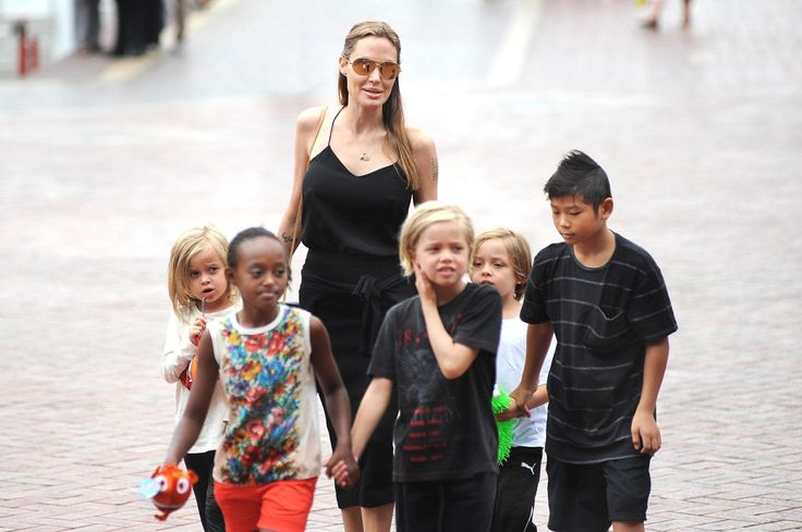 Angelina Jolie with Vivienne Jolie-Pitt, Zahara Jolie-Pitt, Shiloh Jolie-Pitt, Knox Jolie-Pitt, and Pax Jolie-Pitt - The jet-setting director might have missed her film Unbroken's Los Angeles premiere, but several of her fashion-forward kids – Pax, Maddox, and Shiloh stepped in, proving that this modern-day Brady Bunch is doing things in their own distinctive style.