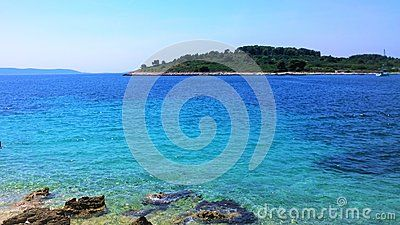 A shot of the seaside from the island of Ciovo in Croatia.