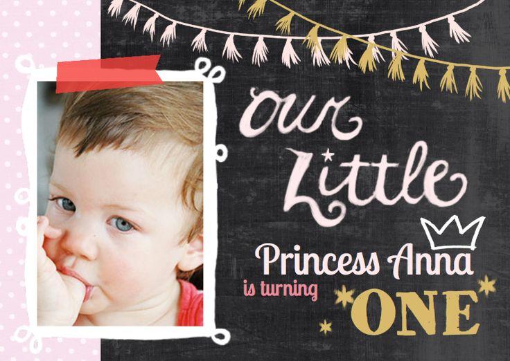 Lieve uitnodiging prinses 1