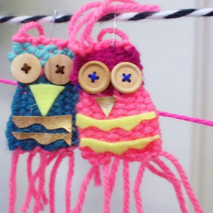 Weefmonstertjes 💕 gemaakt tijdens Naschoolse activiteit 'Lol met Wol' van Atelier Braakmans Van Beuningen