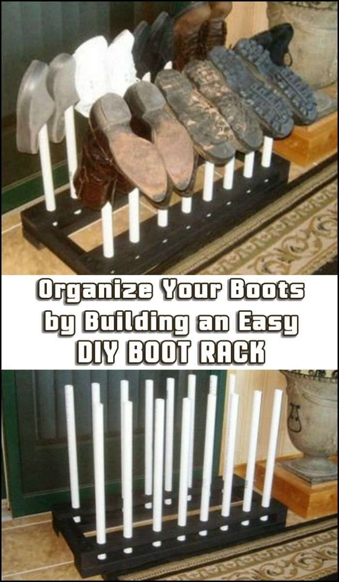 Keep your entry organized, and your floor free from dirty boots with this easy, inexpensive DIY boot rack! Need one?