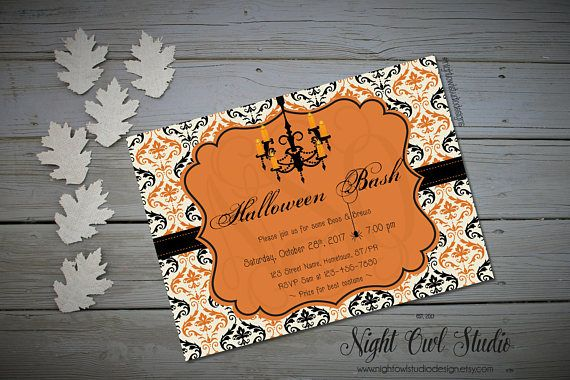 Hey, I found this really awesome Etsy listing at https://www.etsy.com/ca/listing/159499269/halloween-invitation-glam-halloween
