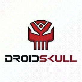 Exclusive Customizable Logo For Sale: Droid Skull   StockLogos.com https://stocklogos.com/logo/droid-skull