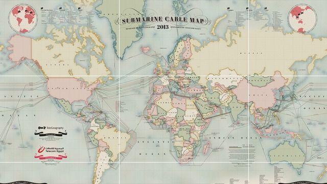 Mapa submarino dos cabos da Internet que conectam o mundo - Blog do Robson dos Anjos