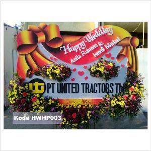 Bahan terbuat dari BUNGA ASLI PILIHAN. O2 Florist Jual karangan bunga papan Pernikahan di Surabaya dengan kualitas bunga papan terbaik kami hadirkan. O2 Florist Toko Bunga Papan Pernikahan SURABAYA siap melayani ke pelosok Surabaya dan sekitarnya