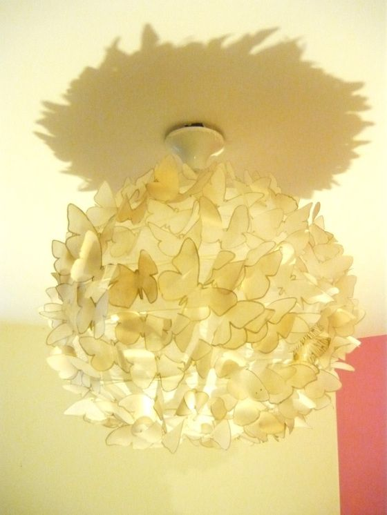 paper butterfly lampshade diy - tutorial