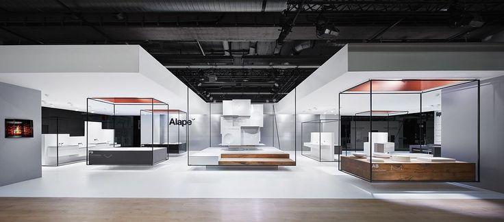 Minimalist exhibition design.