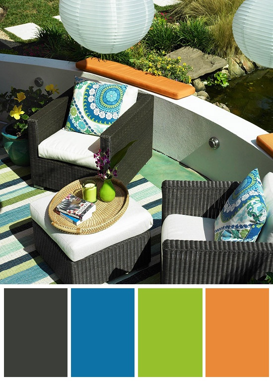 Outdoors Funky Blue Green And Orange Colors Outdoor Color Schemes In 2018 Pinterest Rooms Es