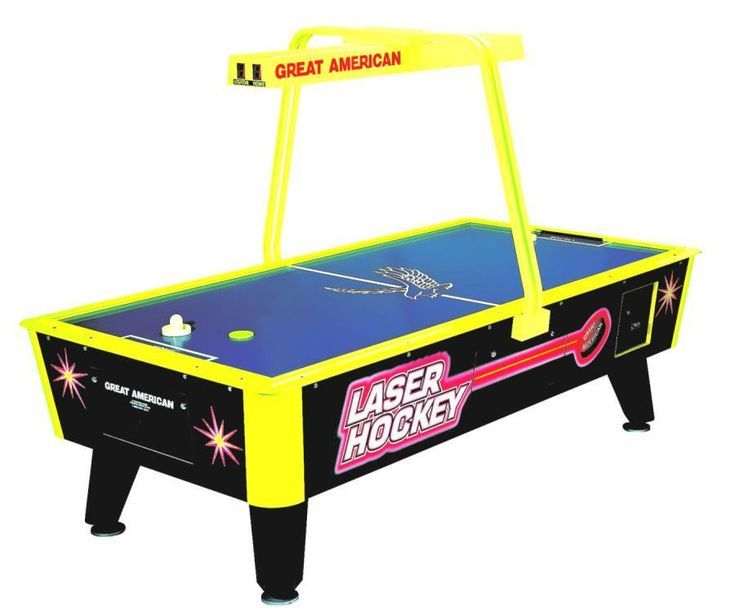 Great American Laser Hockey Home Table W Overhead Scoring Air Hockey Air Hockey Table Arcade Games For Sale