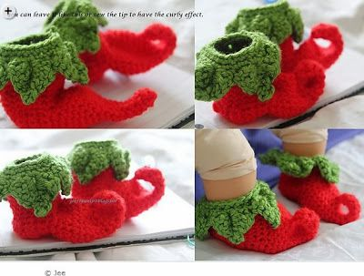 Elf Baby Shoes Pattern