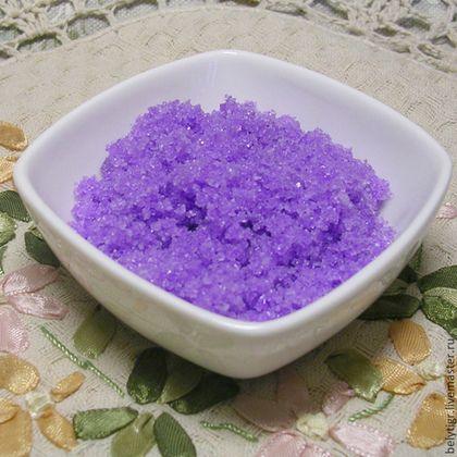 «Соль» для ванны «Лаванда» - сиреневый,соль морская,соль для ванны,соль для ванн