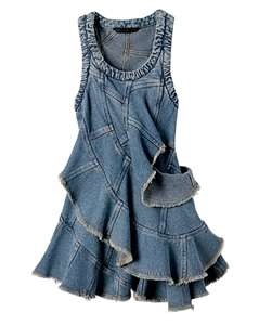 ~` denim dress `~