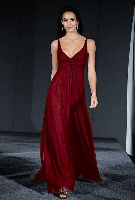 Wtoo Style 418 Sleeveless Red Chiffon A Line Bridesmaid