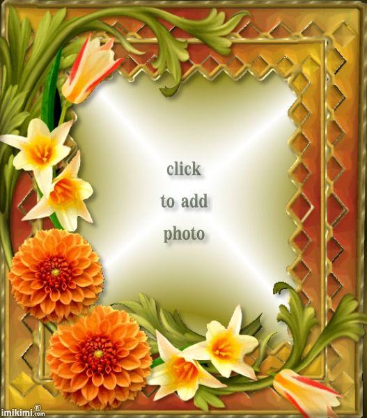 beautiful flowers frame