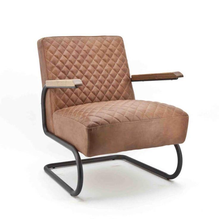 Retro fauteuil Marc cognac.