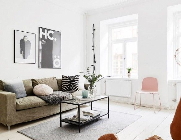 Visit a Small Swedish Flat With Charming Modern Style via @domainehome