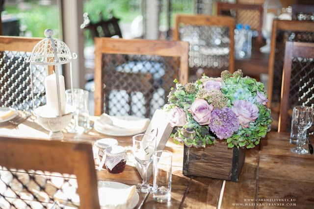 Őszi esküvői asztal