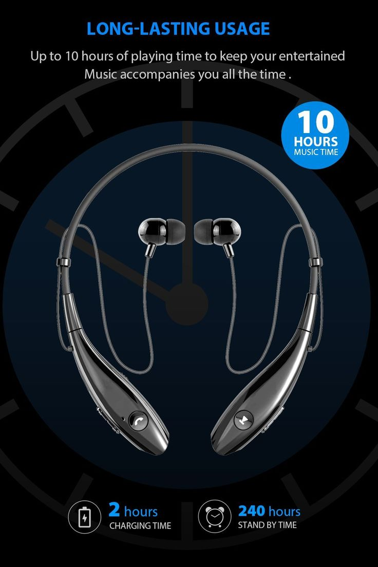 Amazon.com: SoundPEATS Auriculares Bluetooth Wireless Headset con banda para el cuello estéreo deporte auriculares con micrófono (10horas Tiempo de Juego, Bluetooth 4.1, Sweatproof): Electronics